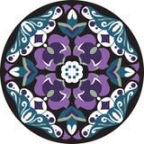 Modelo tradicional chino oriental del círculo de la flor de loto ilustración del vector