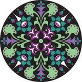 Modelo tradicional chino oriental del círculo de la flor de loto stock de ilustración