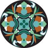 Modelo tradicional oriental de la circular de la flor de loto del vector stock de ilustración