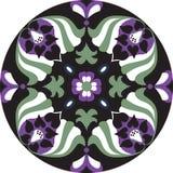 Modelo tradicional oriental del círculo de la flor de loto stock de ilustración