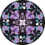 Modelo tradicional oriental del círculo de la hoja de la flor de loto ilustración del vector