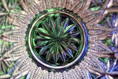 Modelo transparente verde del vidrio de la textura Fotos de archivo libres de regalías