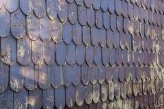 Modelo traslapado de la pared de madera Foto de archivo