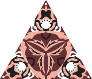 Modelo triangular tradicional oriental de la flor de loto stock de ilustración