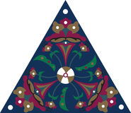 Modelo triangular tradicional oriental de la flor de loto ilustración del vector