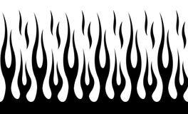 Modelo tribal clásico de la llama del coche del músculo del hotrod stock de ilustración