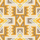 Modelo tribal inconsútil del vector para el diseño de la materia textil libre illustration