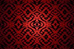 Modelo tribal rojo de las formas Fotografía de archivo