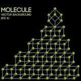 Modelo tridimensional de la molécula Fotografía de archivo