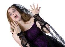 Modelo triguenho em Goth Fotografia de Stock Royalty Free