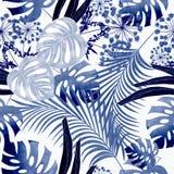 Modelo tropical colorido inconsútil con efecto de la acuarela Modelo elegante para las materias textiles ilustración del vector