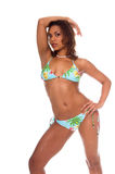 Modelo tropical do biquini Fotos de Stock