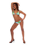 Modelo tropical do biquini Imagens de Stock Royalty Free