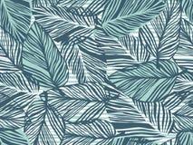 Modelo tropical, fondo floral del vector inconsútil de las hojas de palma Planta exótica en el ejemplo de la impresión de las ray ilustración del vector
