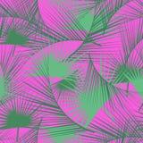 Modelo tropical inconsútil con las hojas de palma verdes Textura de la selva Perfeccione para los papeles pintados, terraplenes d Imágenes de archivo libres de regalías