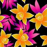 Modelo tropical inconsútil de la orquídea libre illustration