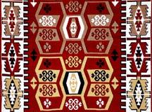 Modelo turco de la alfombra con adornos Imagenes de archivo