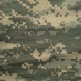 Modelo universal del camuflaje, camo digital del uniforme del combate del ejército, primer macro militar del ACU de los E.E.U.U., Fotografía de archivo