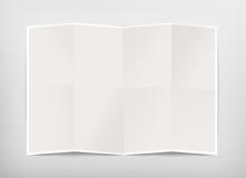 Modelo vazio do projeto da carta, trajeto de grampeamento, ilustração 3d Imagens de Stock Royalty Free