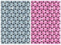 Modelo/vector inconsútiles del diamante Fotografía de archivo libre de regalías