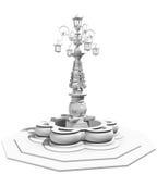Modelo velho da fonte 3d Foto de Stock Royalty Free