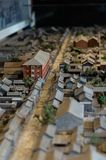 Modelo velho de Hutong do Pequim fotos de stock