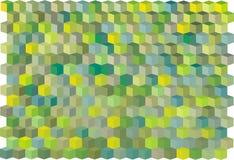 Modelo verde abstracto del cubo Imagenes de archivo