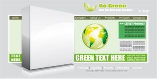 Modelo verde ambiental del Web site Imágenes de archivo libres de regalías