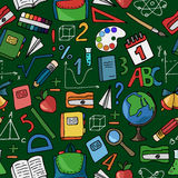 Modelo verde de la escuela Imagen de archivo libre de regalías