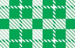 Modelo verde de la guinga Textura del Rhombus para - la tela escocesa, manteles, camisas, vestidos, papel, lecho, mantas, edredon ilustración del vector