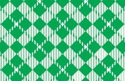 Modelo verde de la guinga Textura del Rhombus para - la tela escocesa, manteles, camisas, vestidos, papel, lecho, mantas, edredon stock de ilustración