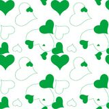 Modelo verde del corazón Foto de archivo