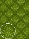 Modelo verde del estilo del damasco Imagen de archivo