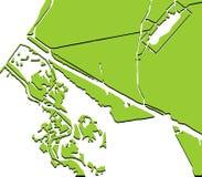 Modelo verde del paisaje adentro Fotografía de archivo libre de regalías