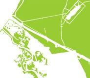 Modelo verde del paisaje adentro Imagen de archivo