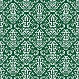 Modelo verde del papel pintado stock de ilustración