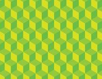Modelo verde del vector del cubo Foto de archivo