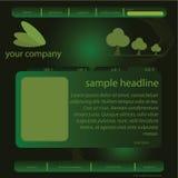 Modelo verde del Web site ilustración del vector