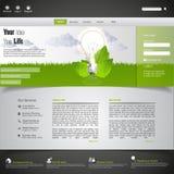Modelo verde del Web site del eco Foto de archivo libre de regalías