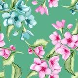 Modelo verde floral Fotografía de archivo