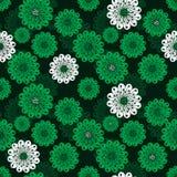 Modelo verde floral inconsútil de la primavera Imagen de archivo
