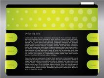 Modelo verde punteado del Web site stock de ilustración