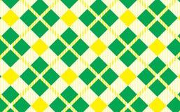 Modelo verde y amarillo Textura del Rhombus para - la tela escocesa, manteles, camisas, vestidos, papel, lecho, mantas, edredones ilustración del vector