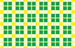 Modelo verde y amarillo Textura del Rhombus para - la tela escocesa, manteles, camisas, vestidos, papel, lecho, mantas, edredones stock de ilustración