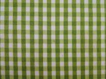 Modelo verde y blanco de la tela escocesa Imágenes de archivo libres de regalías