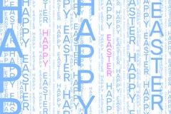 Modelo vertical feliz de la palabra de Pascua en azul claro y rosado foto de archivo libre de regalías