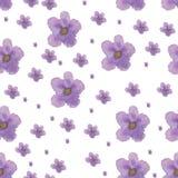 Modelo violeta de la acuarela Fotografía de archivo