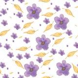 Modelo violeta de la acuarela Imagenes de archivo