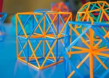 Modelo volumétrico de sólidos geométricos Foto de Stock