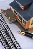 Modelo y documentación de la casa Imagen de archivo